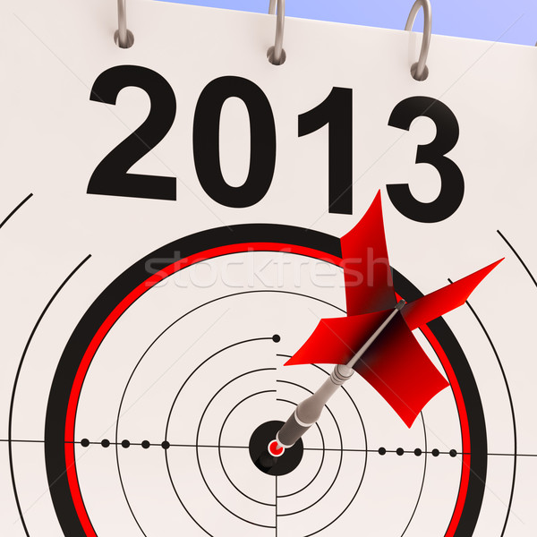 2013 Target Means Business Plan Forecast Stock photo © stuartmiles