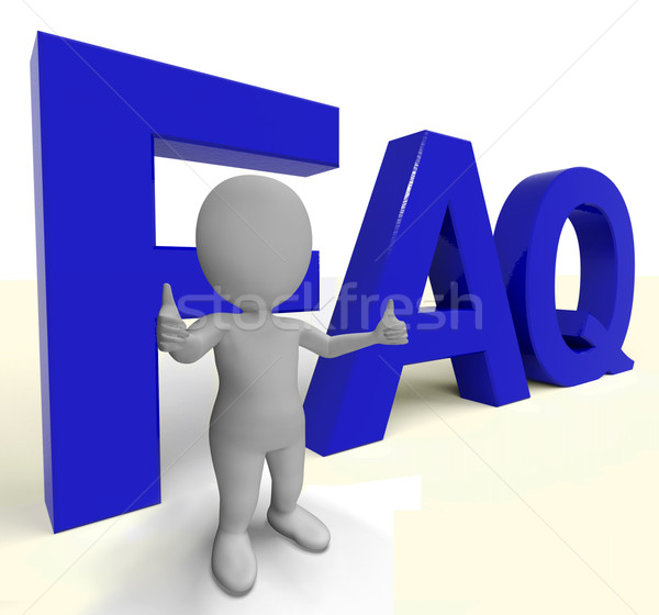 Faq Word As Sign For Information Or Assisting Stock photo © stuartmiles