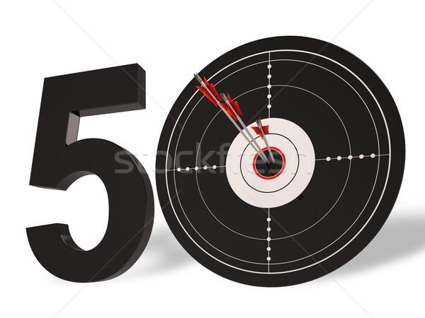 50 целевой летию пятьдесят лет Сток-фото © stuartmiles