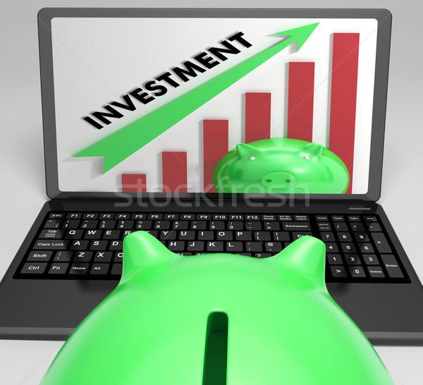 Inversión gráfico éxito portátil Foto stock © stuartmiles