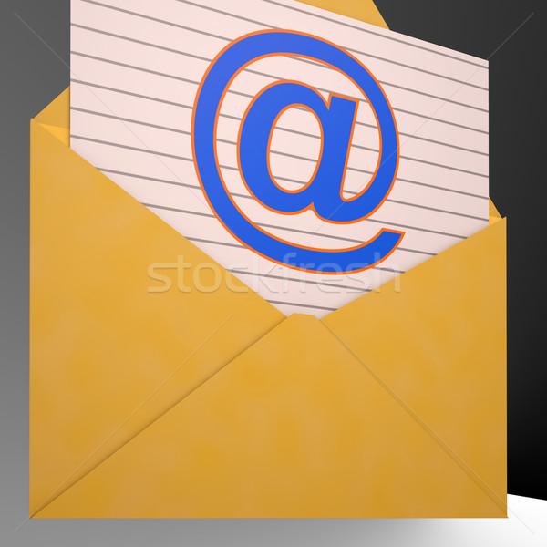 Busta mondo telecomunicazioni mail tecnologia Foto d'archivio © stuartmiles