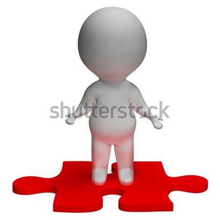 Frustrated 3d Character Kicking Showing Stress And Anger Stock photo © stuartmiles