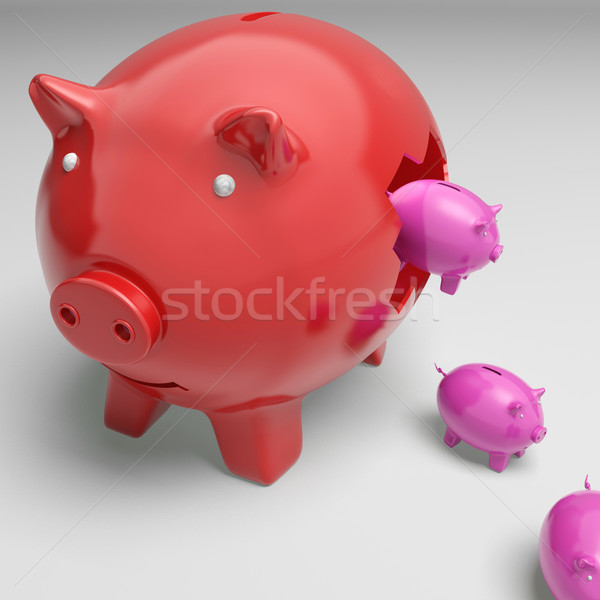 Piggybanks Inside Piggybank Showing Monetary Growth Stock photo © stuartmiles