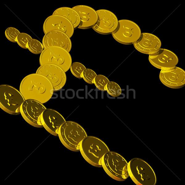 Coins Pound Symbol Showing British Budget Stock photo © stuartmiles