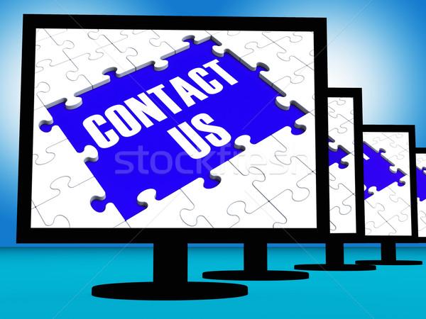 Wsparcie sprzężenie zwrotne działalności Internetu kontakt Zdjęcia stock © stuartmiles