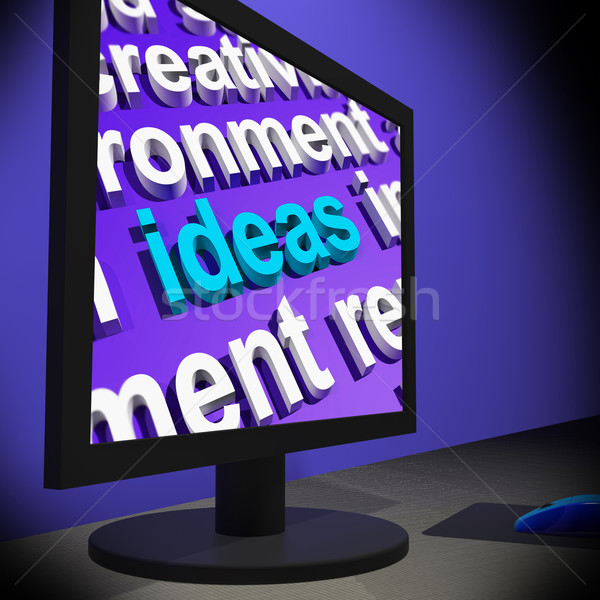 Ideas On Monitor Showing New Inventions s Stock photo © stuartmiles