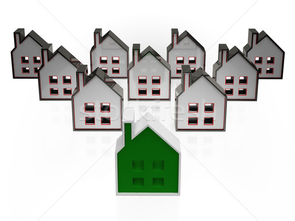 Casa símbolos significado imóveis venda edifícios Foto stock © stuartmiles