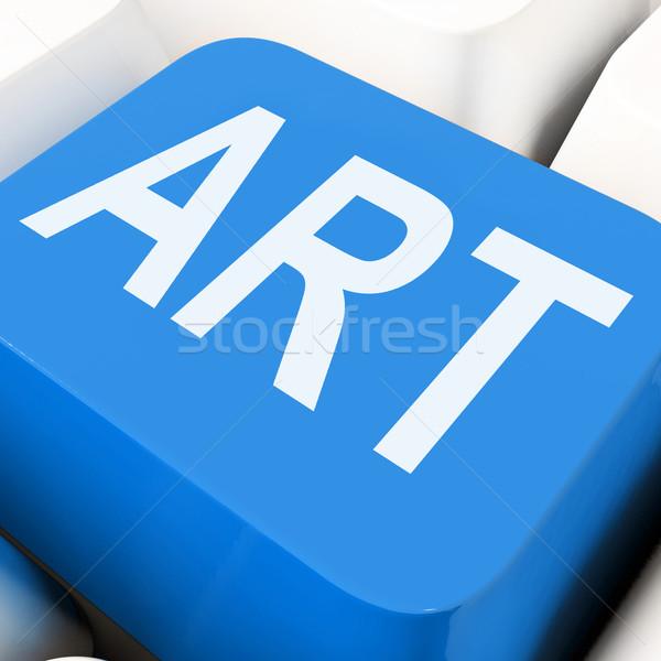 Art Key Means Artistic Or Artwork Stock photo © stuartmiles