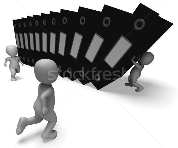 File organizzato scartoffie informazioni Foto d'archivio © stuartmiles