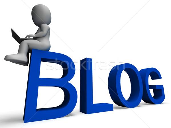 Blog Media Showing Weblog Website Stock photo © stuartmiles
