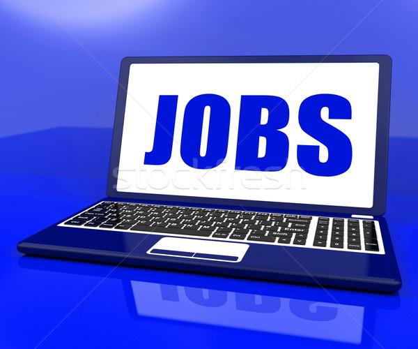 Laptop recrutamento emprego on-line Foto stock © stuartmiles