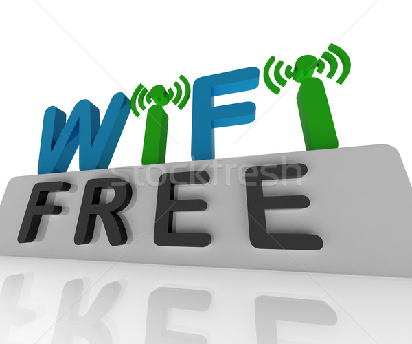 Free W-ifi Shows Web Connection And Mobile Hotspots Stock photo © stuartmiles