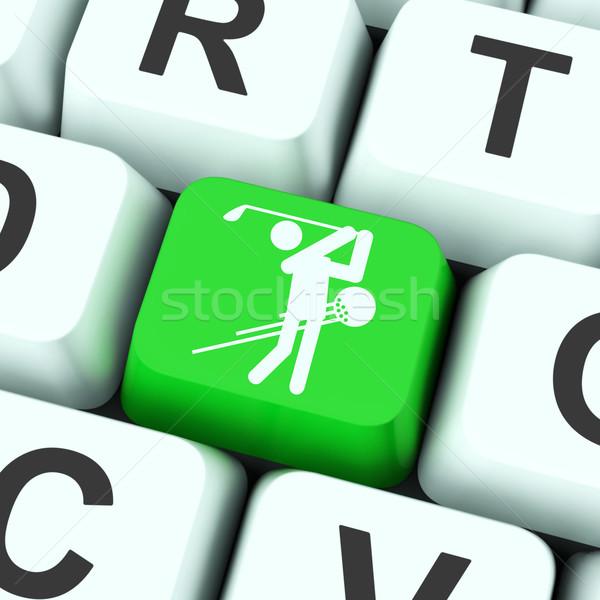 Golf Key Means Golfer Club Or Golfing Stock photo © stuartmiles