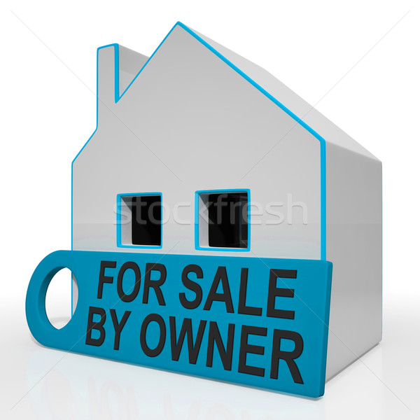Verkoop eigenaar huis geen makelaar betekenis Stockfoto © stuartmiles