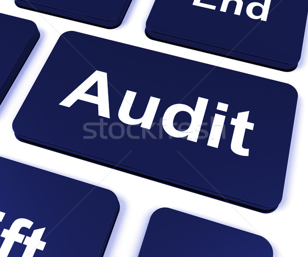 Audit Key Shows Auditor Validation Or Inspection Stock photo © stuartmiles