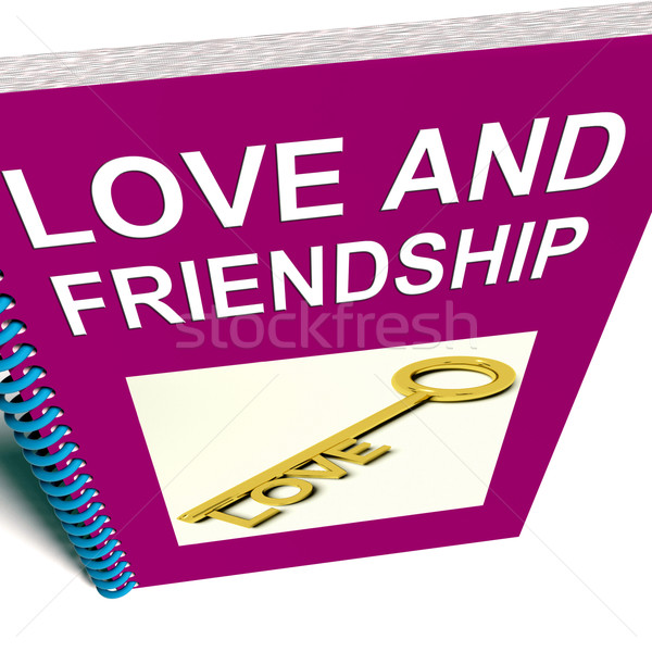 Love and Friendship Book Represents Keys and Advice for Friends Stock photo © stuartmiles