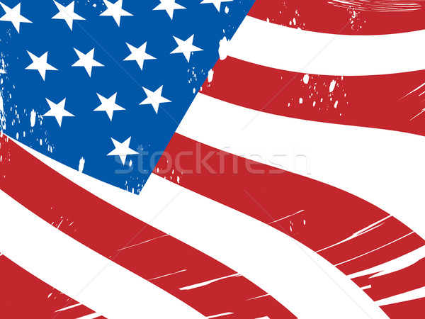 American Flag Background Means Freedom Government And Military Stock photo © stuartmiles