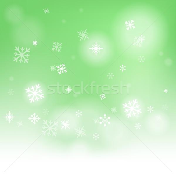 Snow Flakes Background Shows Snow Falling Or Wintertime Stock photo © stuartmiles