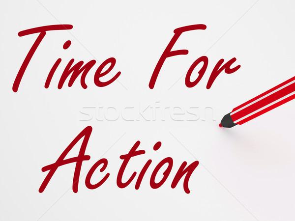 Idő tevékenység tábla inspiráció jelentés motiváció Stock fotó © stuartmiles