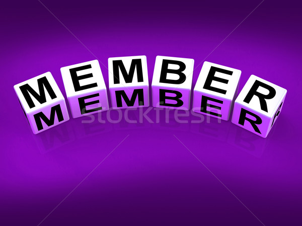 Member blocks Show Subscription Registration and Membership Stock photo © stuartmiles