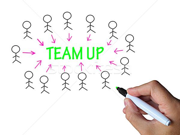Equipe para cima colaboração apoiar Foto stock © stuartmiles