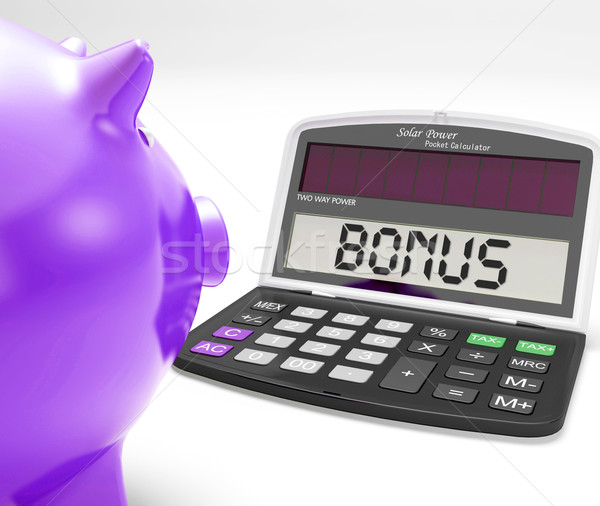 Bonus Calculator Shows Perks Extra Or Incentive Stock photo © stuartmiles