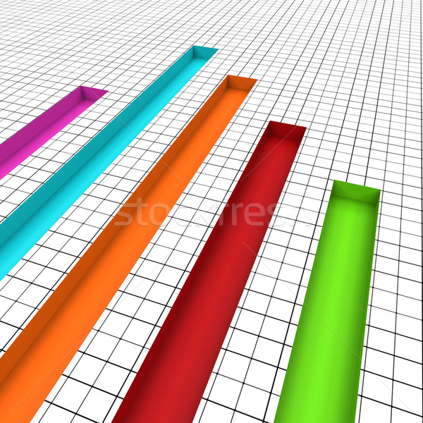 Graph Report Indicates Graphs Profit And Data Stock photo © stuartmiles