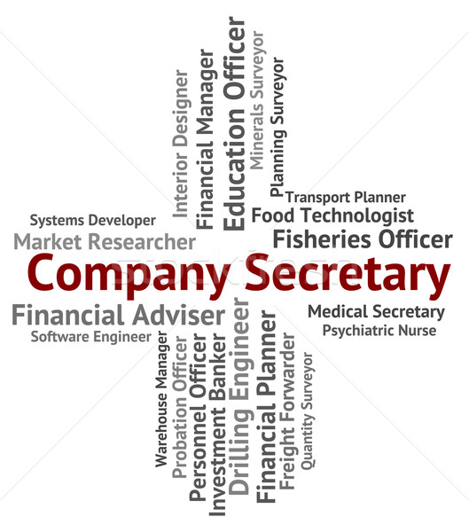 Company Secretary Shows Clerical Assistant And Administrator Stock photo © stuartmiles