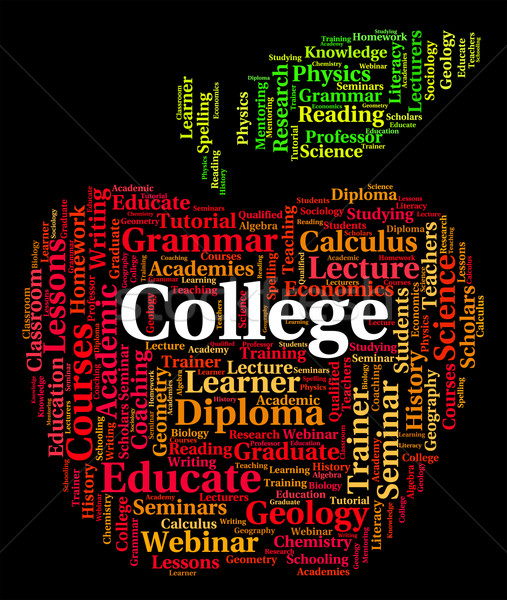 College Word Indicates Naval Academy And Academies Stock photo © stuartmiles