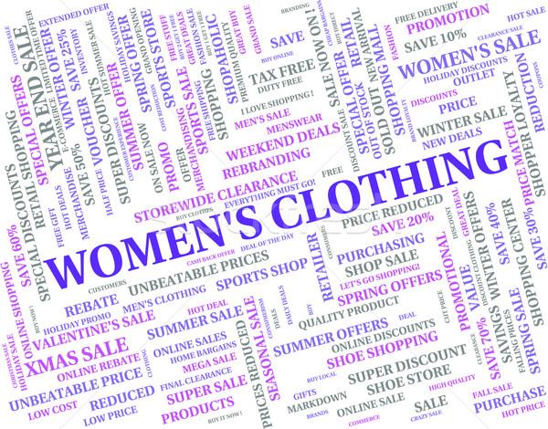 Ruházat női hölgyek divat nadrág ruházat Stock fotó © stuartmiles