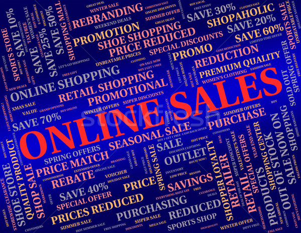 Ligne ventes world wide web net site vente Photo stock © stuartmiles