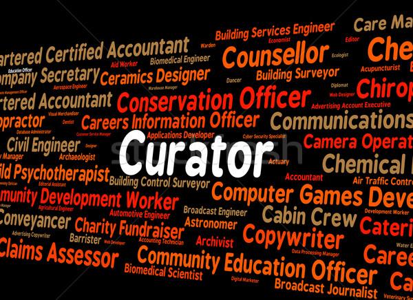 Trabalho empregado palavra trabalhar texto Foto stock © stuartmiles