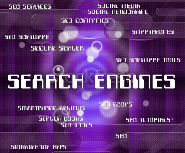Search Engines Means Gathering Data And Analyse Stock photo © stuartmiles
