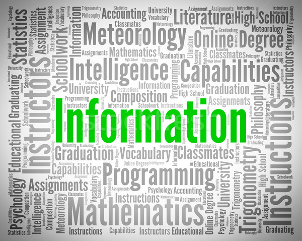 Informatie woord antwoorden adviseur helpen kennis Stockfoto © stuartmiles