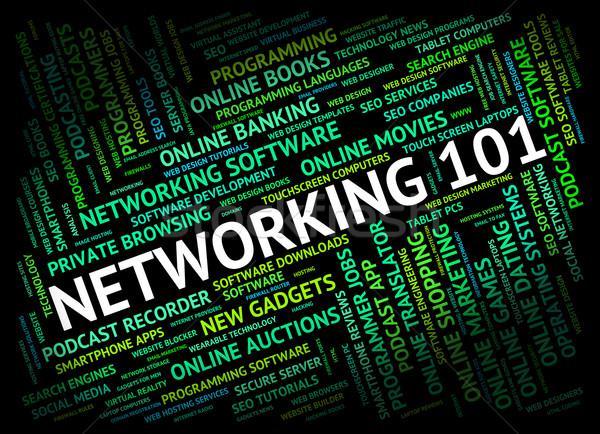 Networking palavra introdução conectividade computador Foto stock © stuartmiles