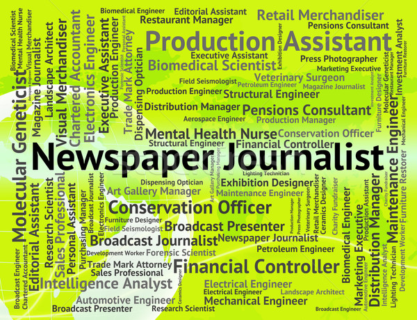 Newspaper Journalist Shows War Correspondent And Career Stock photo © stuartmiles