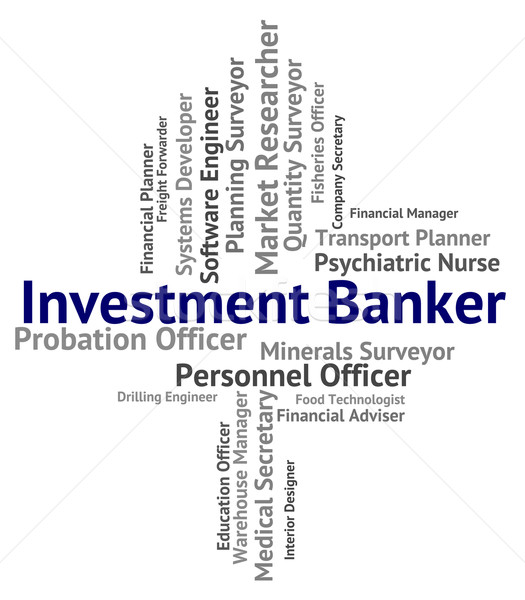 Investment Banker Represents Portfolio Job And Savings Stock photo © stuartmiles