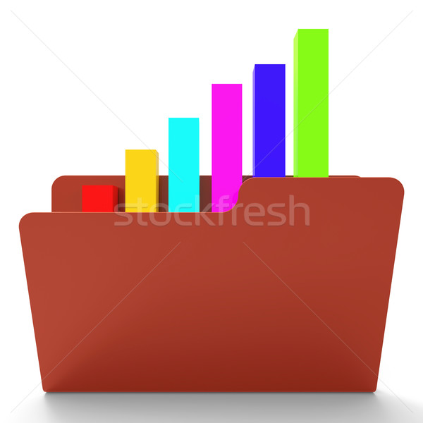 Akta jelentés üzleti grafikon elemzés mutat információ Stock fotó © stuartmiles