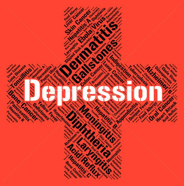 Depresyon kelime kayıp umut hasta sağlık Stok fotoğraf © stuartmiles