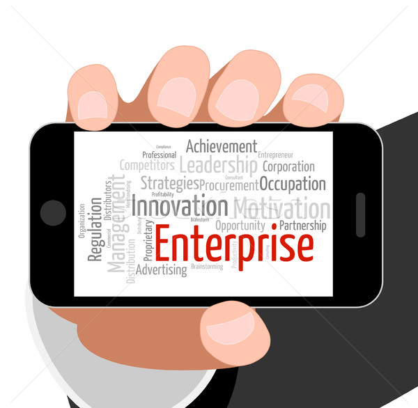 Enterprise Word Indicates Concern Venture And Words Stock photo © stuartmiles