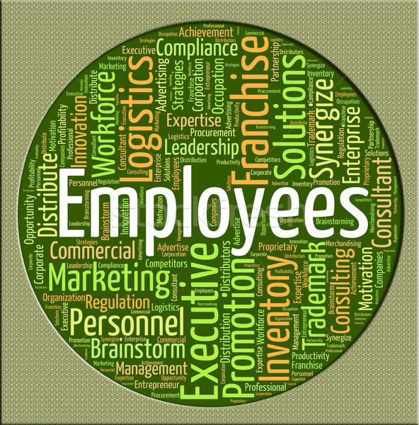 Woord lid personeel tekst woorden Stockfoto © stuartmiles