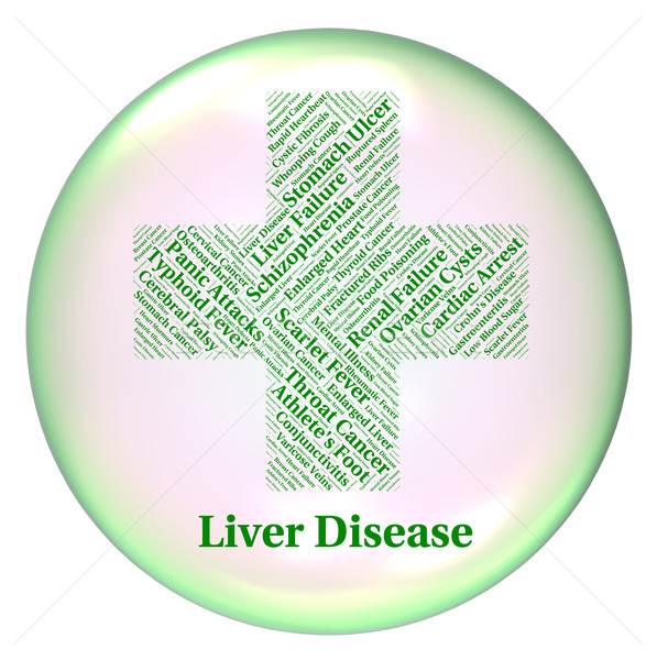 Liver Disease Indicates Poor Health And Ailment Stock photo © stuartmiles