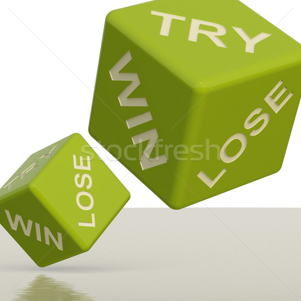 Try Win Lose Dice Showing Gambling And Chance Stock photo © stuartmiles