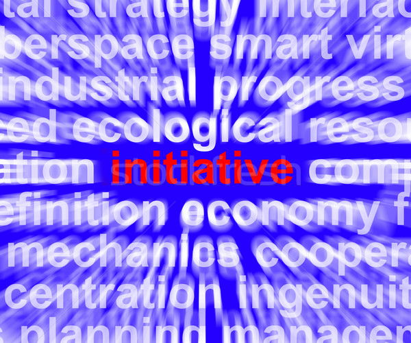Initiative Word Meaning Leadership Inventiveness And Being Proac Stock photo © stuartmiles