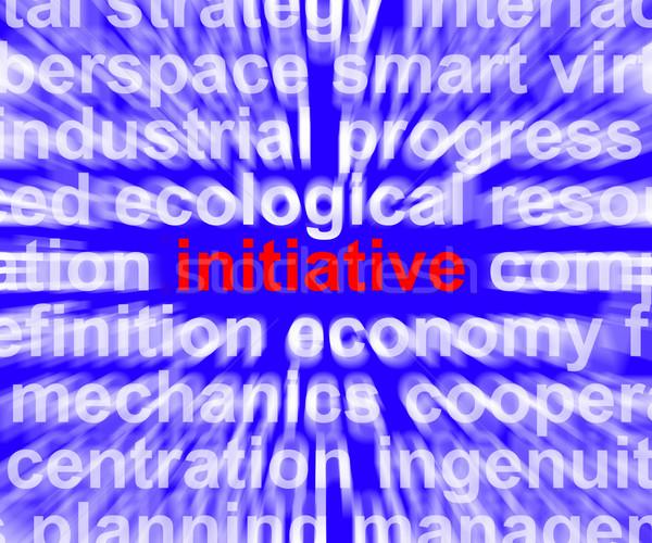 Kezdeményezés szó jelentés irányítás vezetőség kreatív Stock fotó © stuartmiles