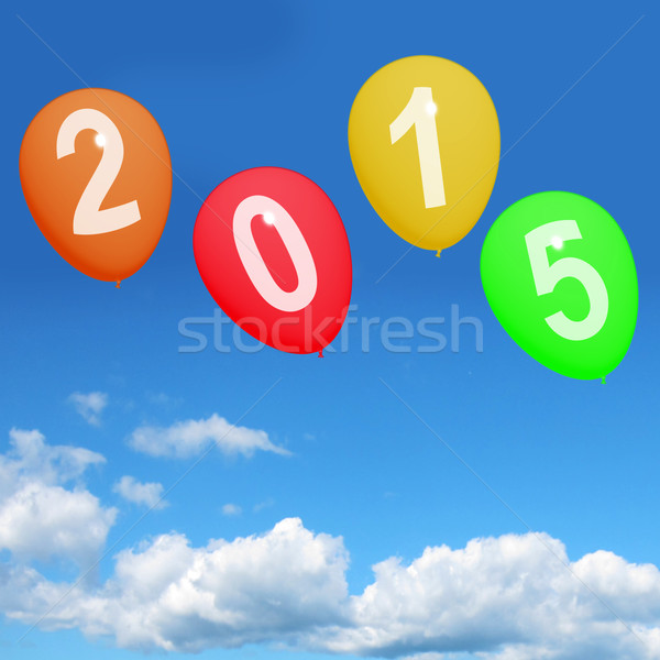 2015 On Balloons Representing Year Two Thousand And Fifteen Cele Stock photo © stuartmiles