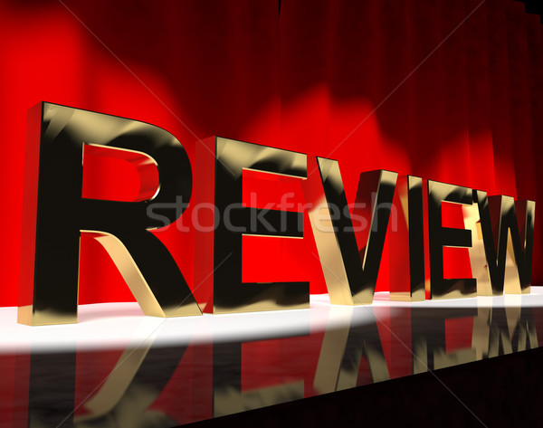 Review Word On Stage Showing Evaluation And Feedback  Stock photo © stuartmiles