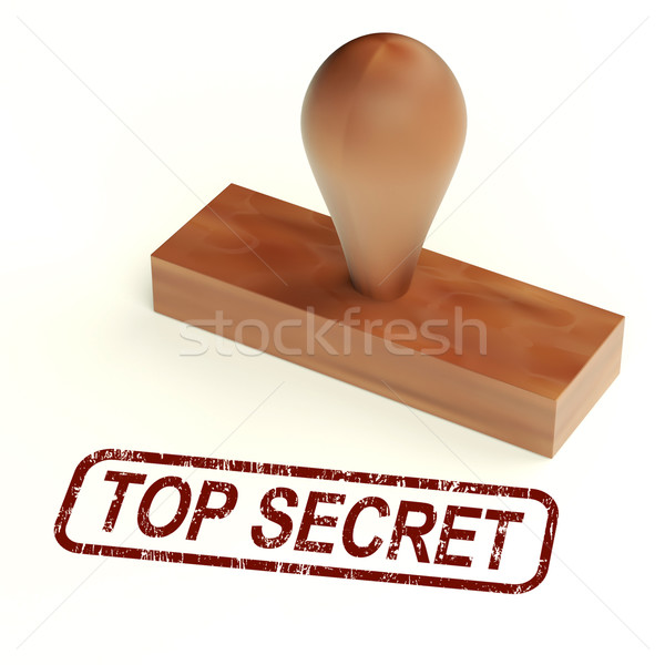 Top Secret Rubber Stamp Shows Classified Correspondence Stock photo © stuartmiles