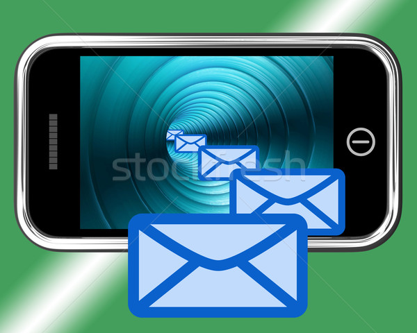 Email Envelopes On Mobile Showing Emailing Or Contacting Stock photo © stuartmiles