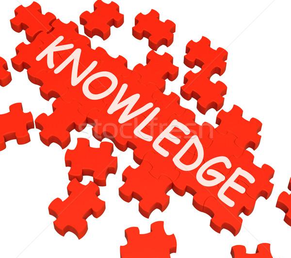 Bilgi bilmece istihbarat bilgelik eğitim Stok fotoğraf © stuartmiles